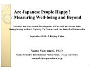 Are Japanese People Happy? - Subregional Office for East and ...