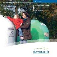 Abfallfibel 2010 - Stadt Bayreuth