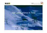 100 Jahre Klima in Tirol - Raiffeisen