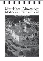 Mittelalter 2-06.indd - Schweizerischer Burgenverein