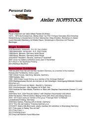 Personal Data - Atelier Brigitte Hoppstock - Neufahrn