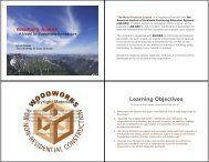 Learning Objectives - WoodWorks