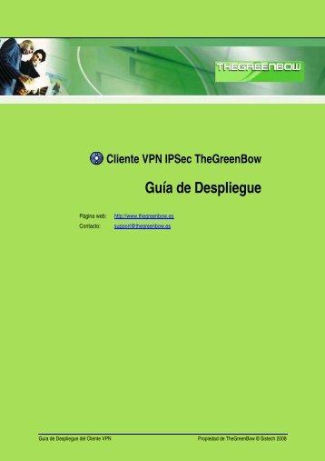 Guía de Despliegue del Cliente VPN - TheGreenBow