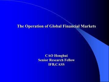 The Operation of Global Financial Markets_Hong-Hui Cao