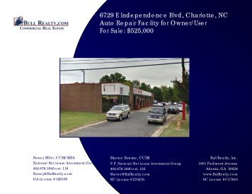 6729 E Independence Blvd, Charlotte, NC Auto Repair ... - Bull Realty
