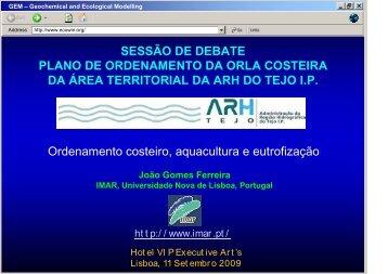 Ordenamento costeiro, aquacultura e eutrofização