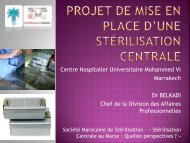 Projet de mise en place d'une stérilisation centrale - Société Suisse ...