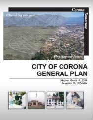 City of Corona General Plan
