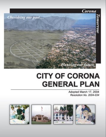 City of Corona General Plan
