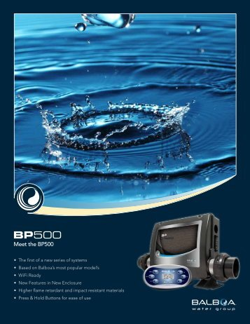 Meet the BP500 - Balboa Water Group
