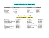 Shopping Opportunities at Banks Crossing ... - Banks County