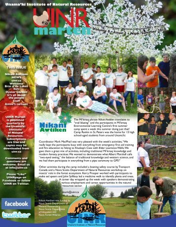 UINR Marten-Vol.8 Issue 2-Summer 2012 - Unama'ki Institute of ...