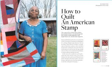 How to Quilt An American Stamp - Arianne Cohen