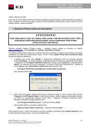 Přímý kanál pro obchodníky - Informace pro ... - Komerční banka