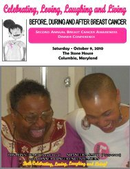 Program - Baltimore October 2010 - Be All You Can Be!  ~ The E ...