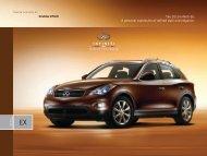 2010 Infiniti EX Crossover Brochure - eCarList