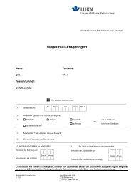Wegeunfall-Fragebogen der Landesunfallkasse Niedersachsen