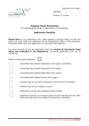 Pukehou Poutu Scholarship For Postgraduate Study in Agriculture ...