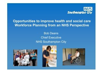 Opportunities to improve health and social care Workforce Planning ...