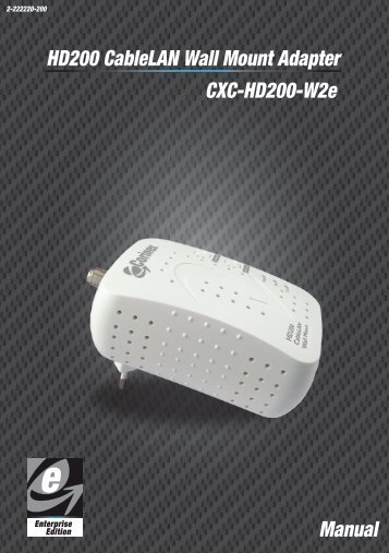 NETWORK, AV200 POWERLINE ETH WALL