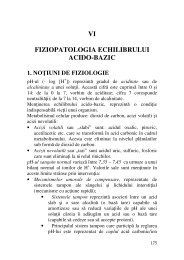 VI FIZIOPATOLOGIA ECHILIBRULUI ACIDO-BAZIC