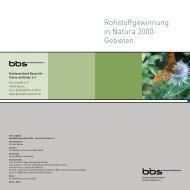 Rohstoffgewinnung in Natura 2000- Gebieten - Bundesverband ...