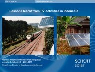 Lessons learnt from PV activities in Indonesia: Past experiences and ...