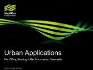 Urban Applications - JULES