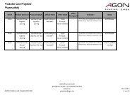 Produkte und Projekte Pharmathek - AGON Pharma GmbH