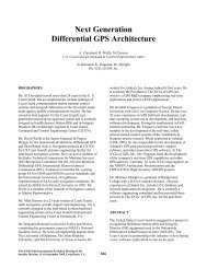 Next Generation Differential GPS Architecture