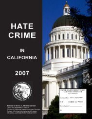 Hate Crime in California 2007