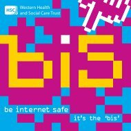 Be Internet Safe Booklet - Western Health and Social Care Trust