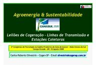 Agroenergia & Sustentabilidade - Cogen