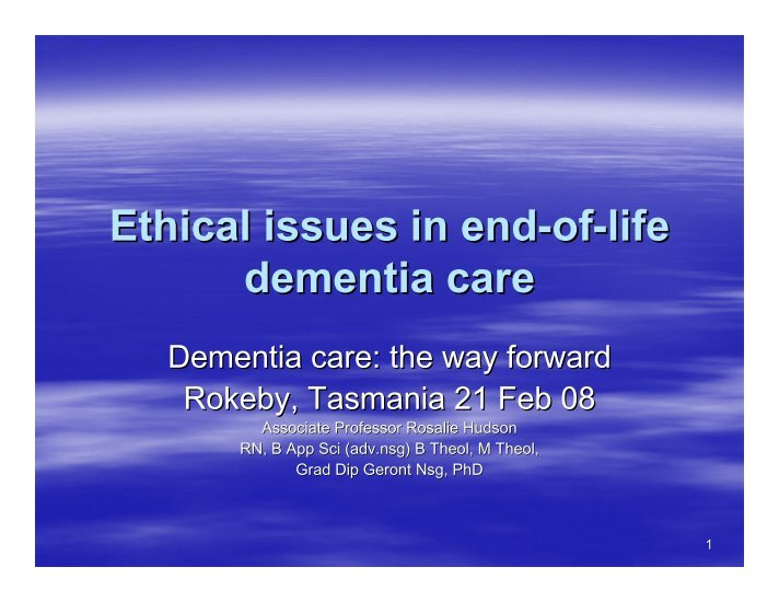 dementia care essay A compendium of essays: new perspectives and approaches to understanding dementia and stigma 5 acknowledgements we would like to express our heartfelt thanks to everyone who contributed essays, without.