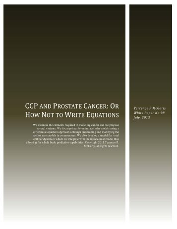 CCP AND PROSTATE CANCER: OR HOW NOT TO WRITE ...