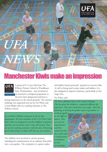 September 2005: UFA Summer Newsletter, Volume 4 [PDF]