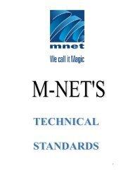MNET Technical Standards Document - (M-Net) Corporate