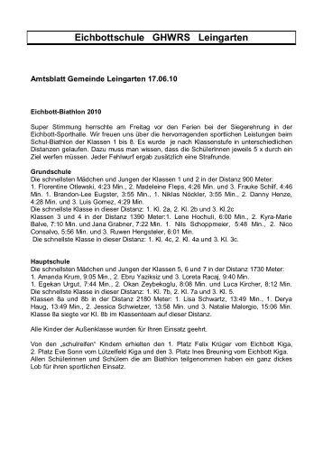 Eichbottschule GHWRS Leingarten