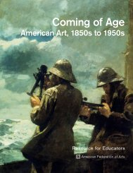 Coming of Age - AFA - American Federation of Arts
