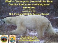 WWF's Circumpolar Human-Polar Bear Conflict Reduction and ...