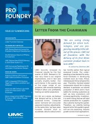 Letter From the Chairman - UMC
