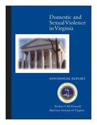 Domestic and Sexual Violence in Virginia - Virginia Attorney General