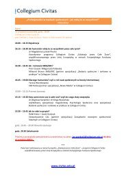 Program - Collegium Civitas
