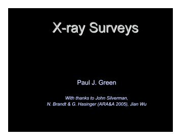 X-ray Surveys - HEASARC