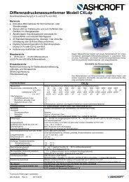 Datenblatt CXLdp - Ashcroft Instruments GmbH