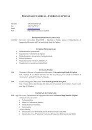 Curriculum - Dimeca - Università degli studi di Cagliari.