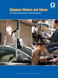 Lubrication Dispense Meters and Valves Brochure - Graco Inc.