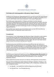 Die Kriterien für Leistungskader im Deutschen Segler-Verband