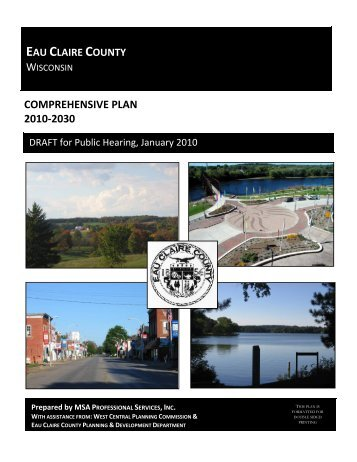 COMPREHENSIVE PLAN 2010-2030 - Eau Claire County