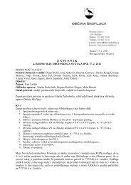 Sprejem zapisnika 4. redne seje občinskega sveta ... - Občina Škofljica